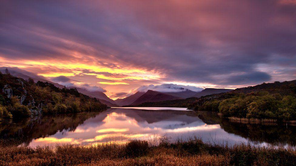 Llyn Padarn, Snowdonia taken from Penllyn Bridge