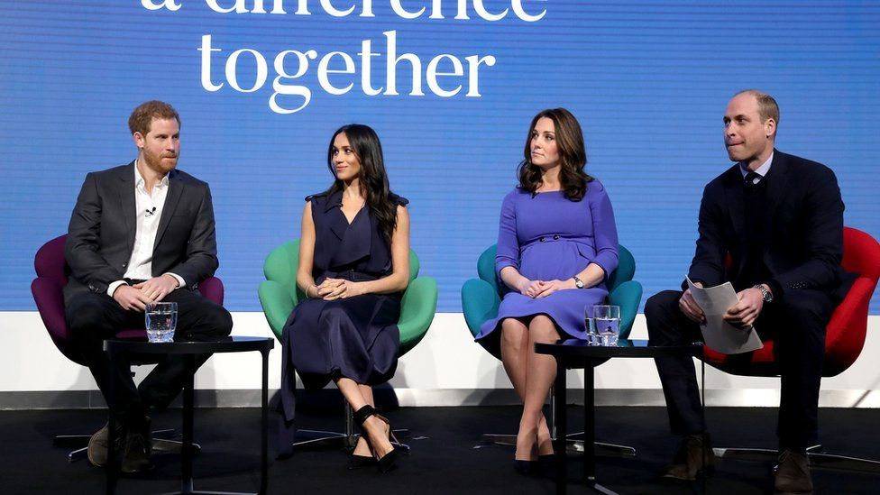 The Sussexes and Cambridges have publicly supported mental health charities