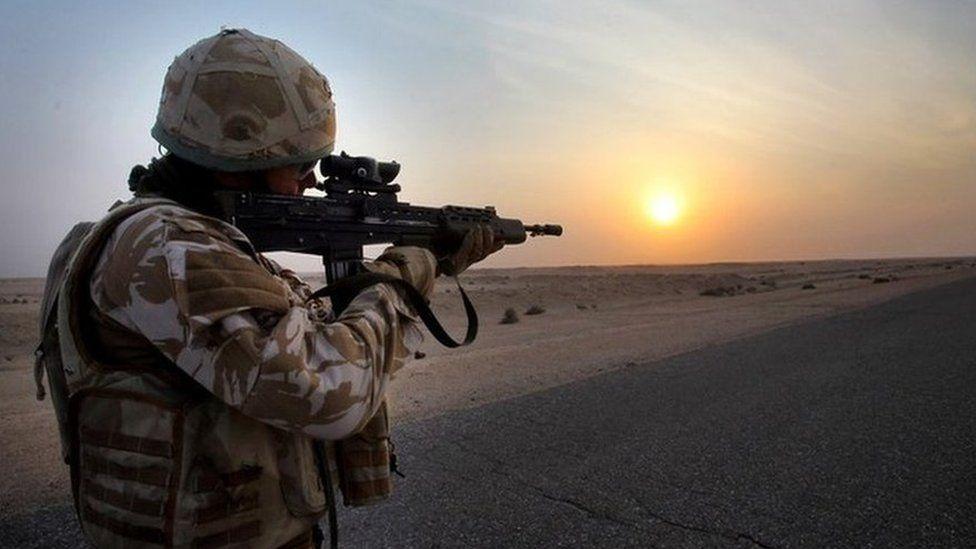 British soldier in Iraq in 2009