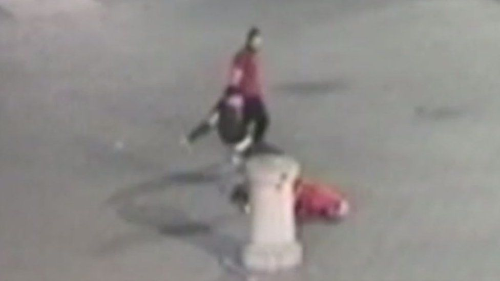 CCTV of Desmond O'Beirne attack