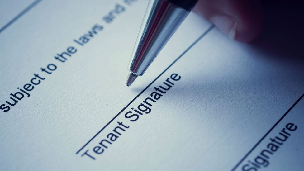 Tenant signing a contract