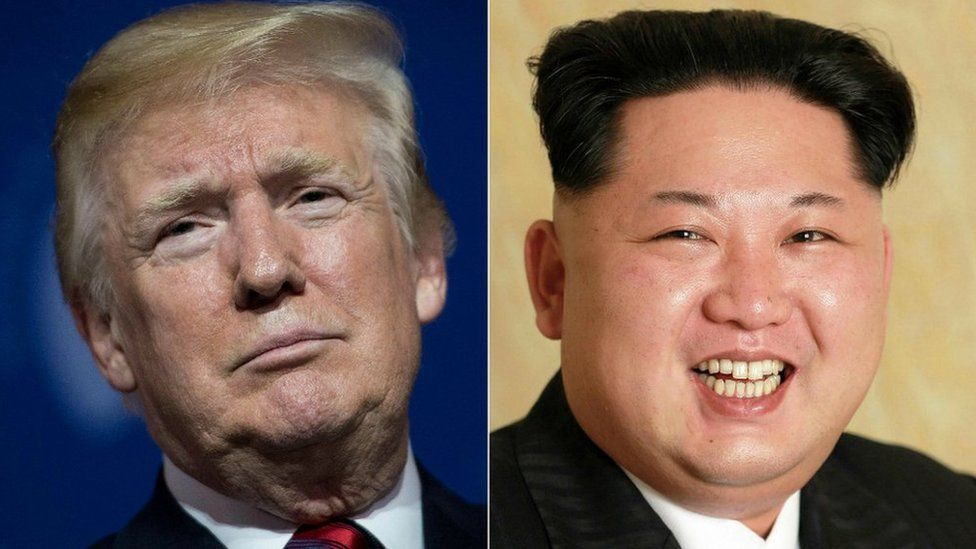 Composite image of Donald Trump and Kim Jong-un