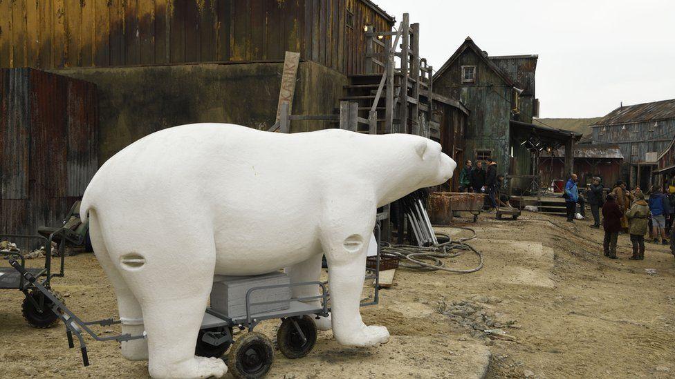 A model of a polar bear-like creature