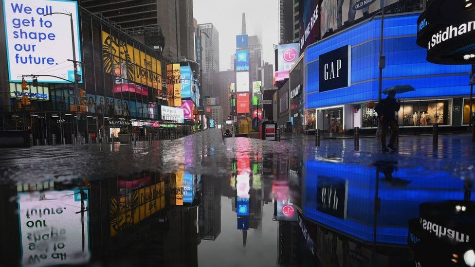 Deserted Times Square