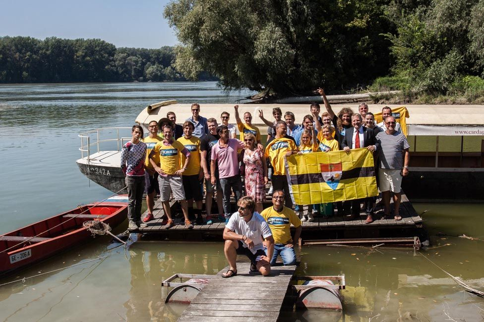 A group on their way to Liberland in August 2016