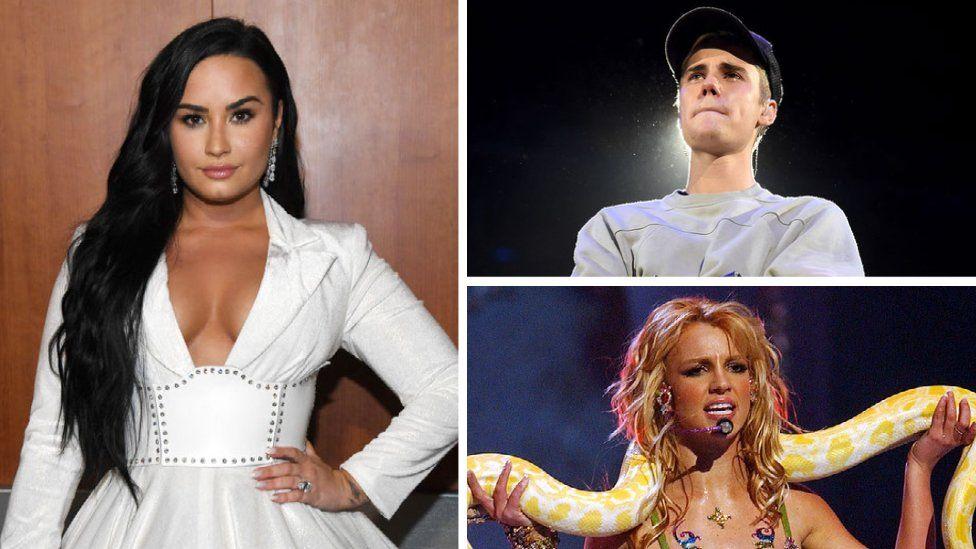 Demi Lovato, Justin Bieber and Britney Spears