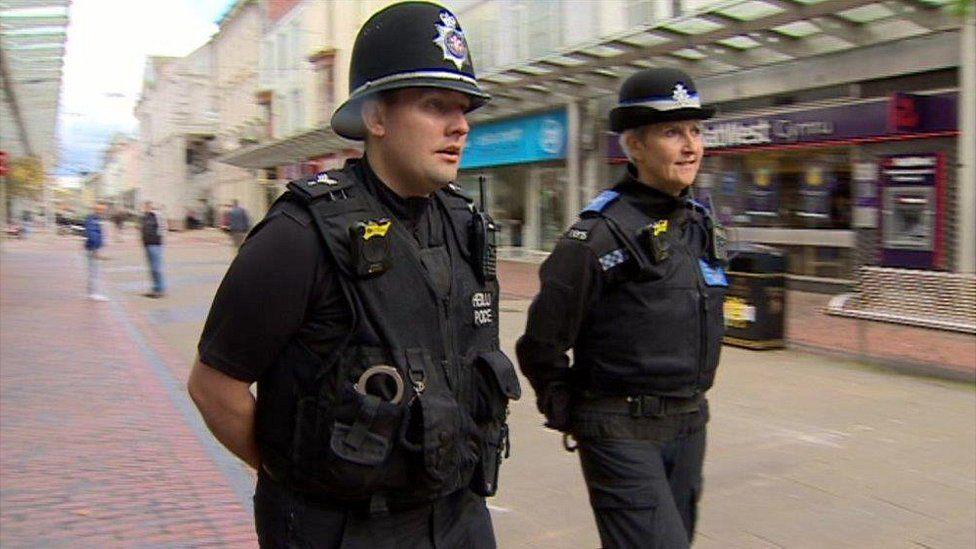 Police in Llanelli