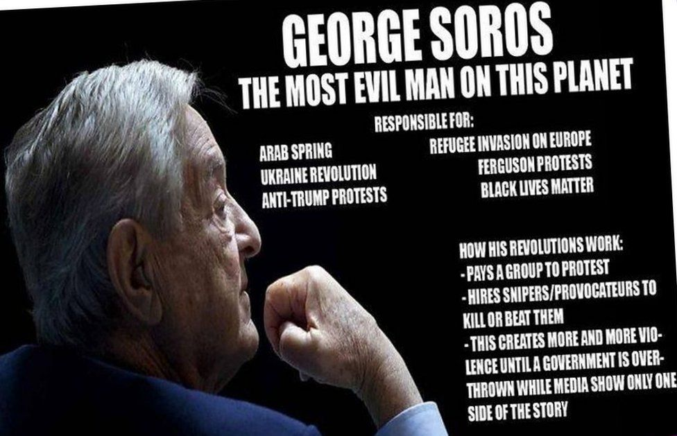 Facebook meme which makes unsubstantiated claims against George Soros