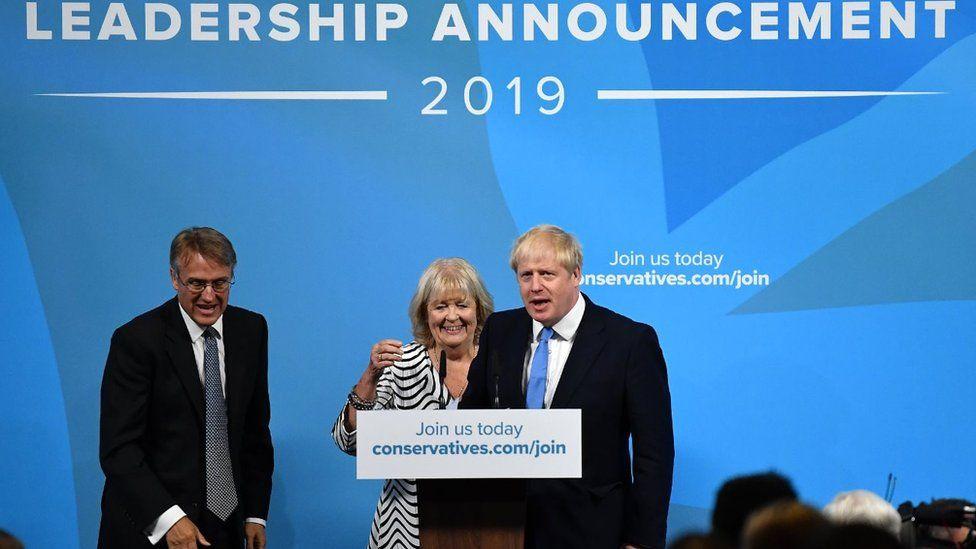 Dame Cheryl Gillan and Boris Johnson