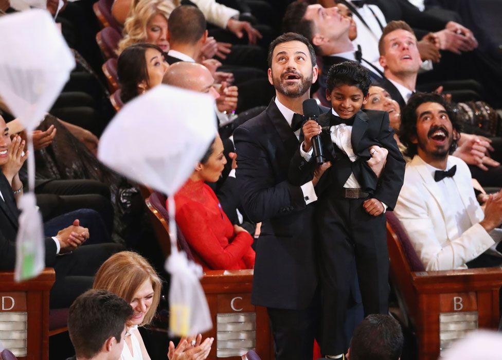 Jimmy Kimmel with Sunny Pawar