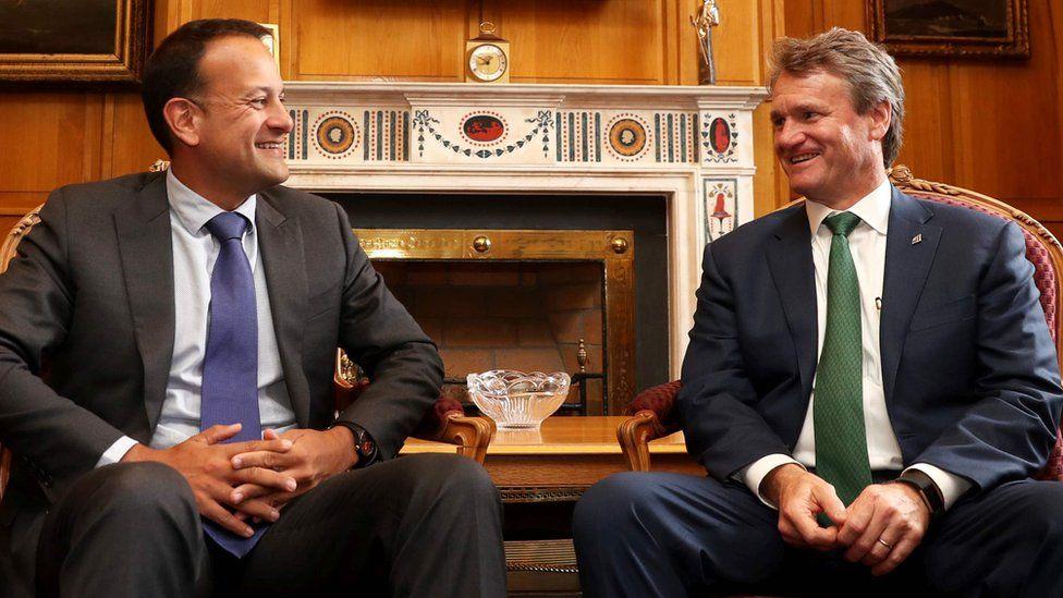 Ireland's Taoiseach Leo Varadkar (left) meets Bank of America boss Brian Moynihan