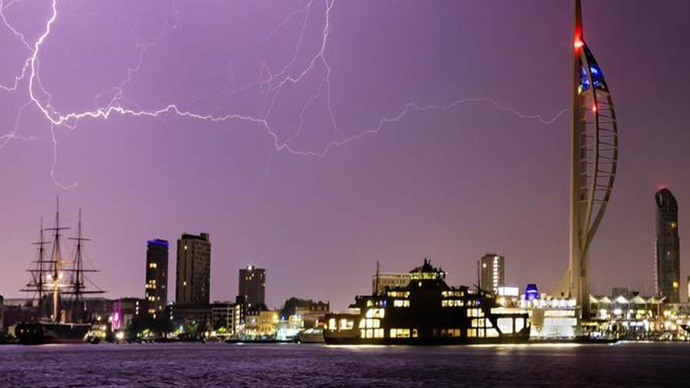 Portsmouth, during a storm