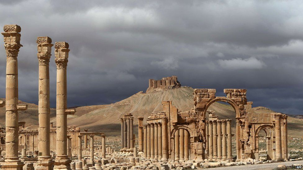 A file picture taken in March 2014 shows a partial view of Palmyra