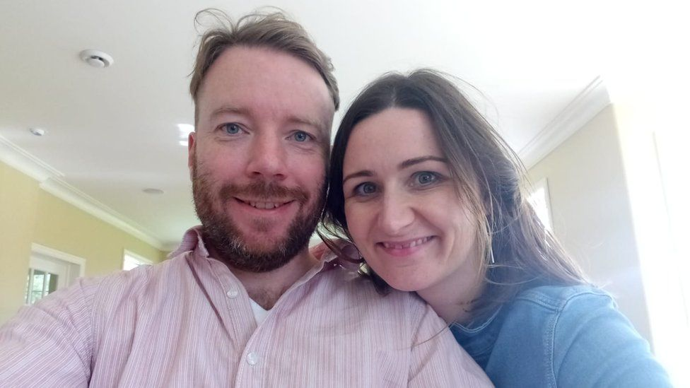 Amy Fitzgerald and her husband Padraig pose for selfie