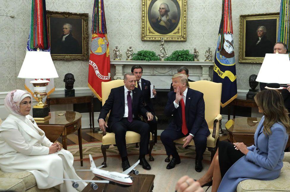 Presidents Erdogan, Trump and spouses