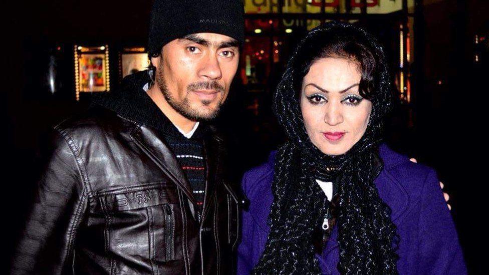 Saba Sahar pictured with her husband Emal Zaki