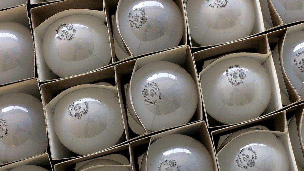 Incandescent bulbs in San Francisco. 2017