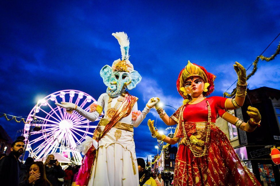 Diwali: Leicester lights switch-on attracts thousands