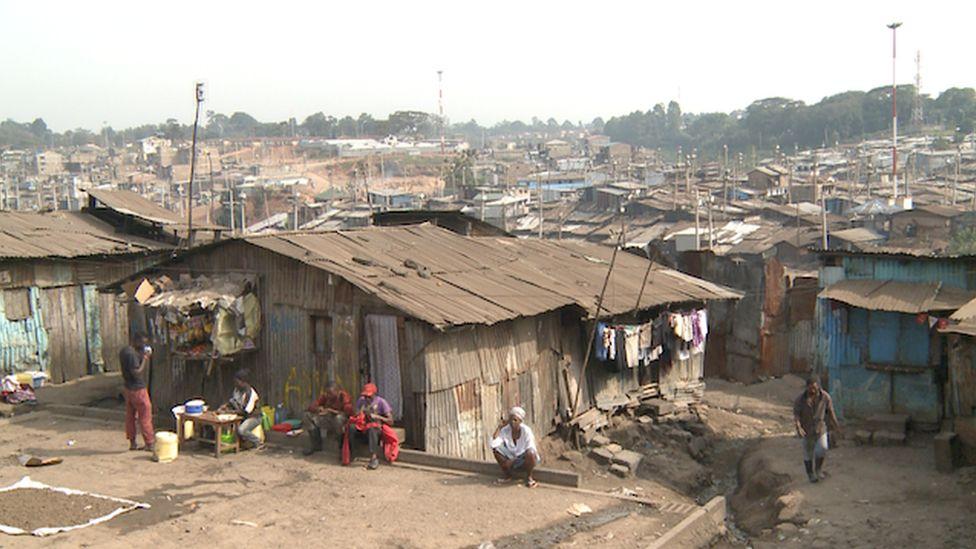 Mathare slum houses