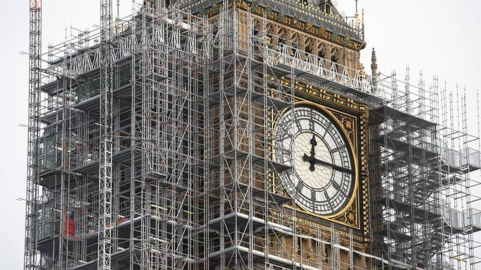 Big Ben under refurbishment