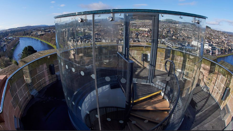 New viewpoint at Inverness Castle