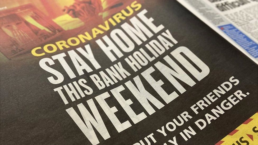 Stay home this bank holiday weekend advert