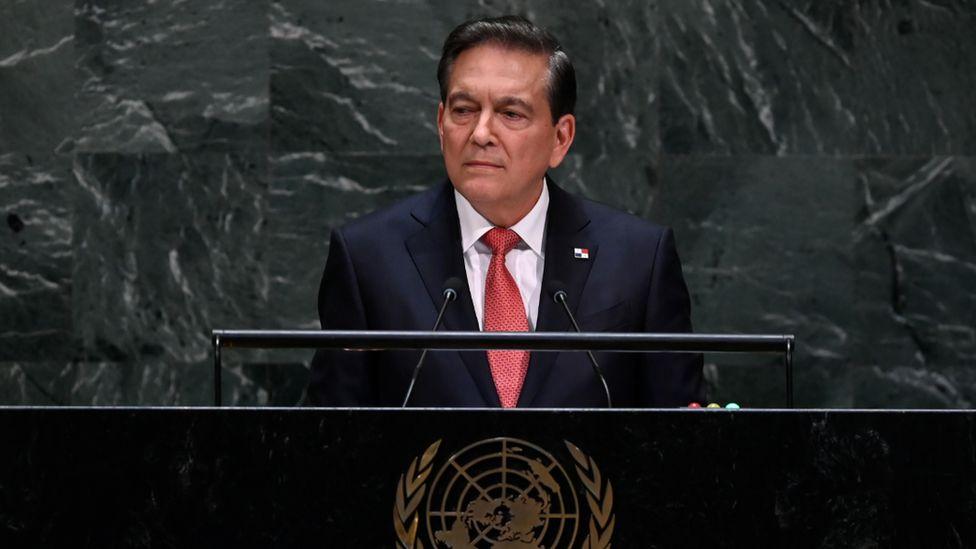 Panama's President Laurentio Cortizo