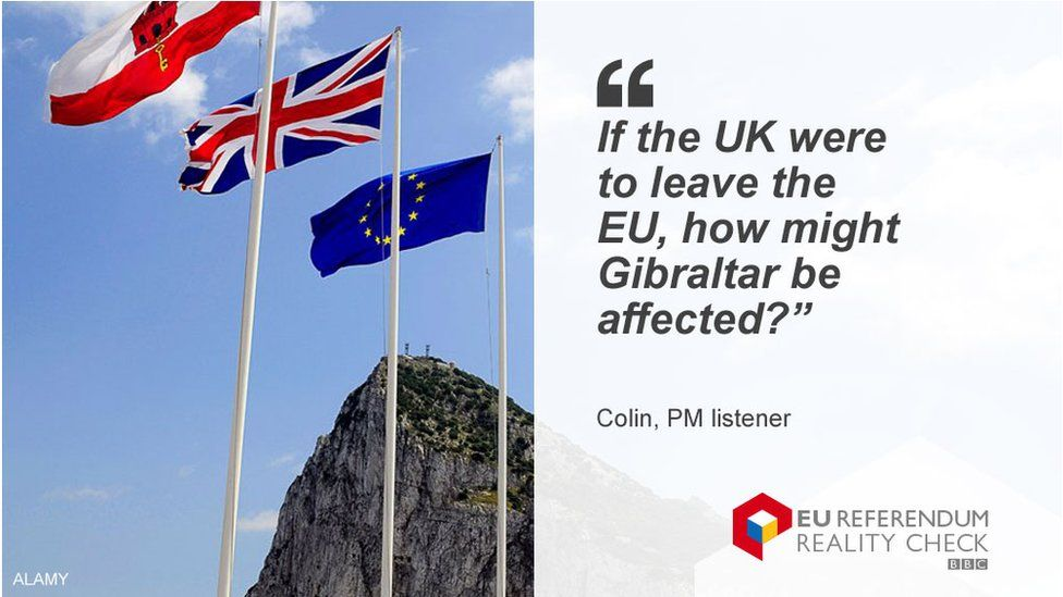 """Colin asking: """"If the UK were to leave the EU, how might Gibraltar be affected?"""""""