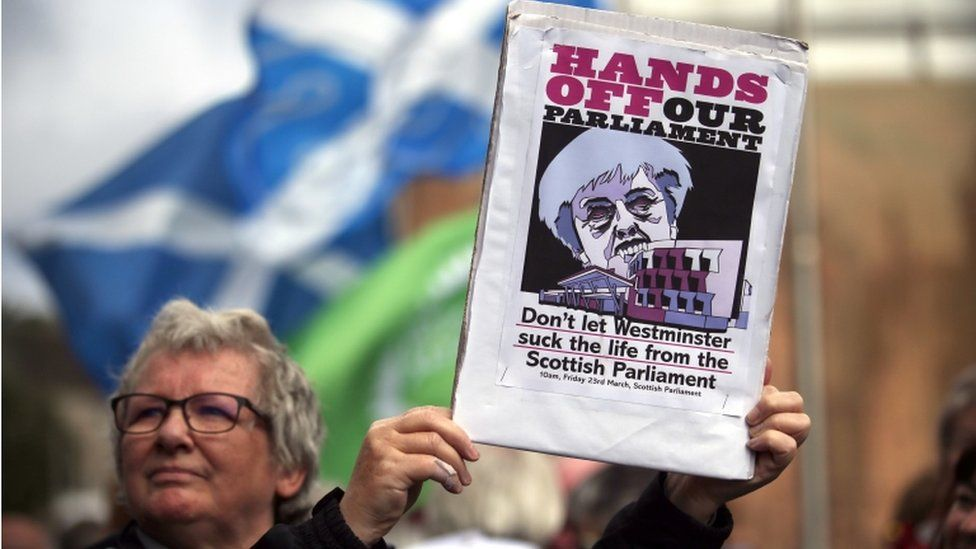 Hands Off Our Parliament protestor