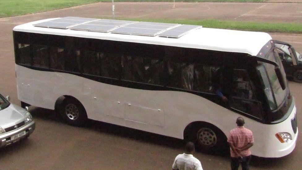 Solar panels on the bus