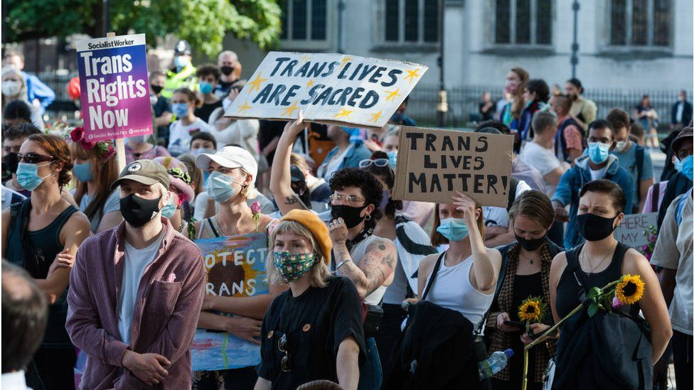 Trans Pride protest march for equality September 2020