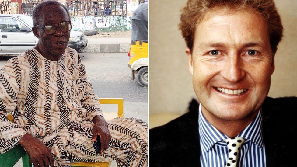Left: Sola Odunfa in Lagos Right: BBC presenter Julian Marshall