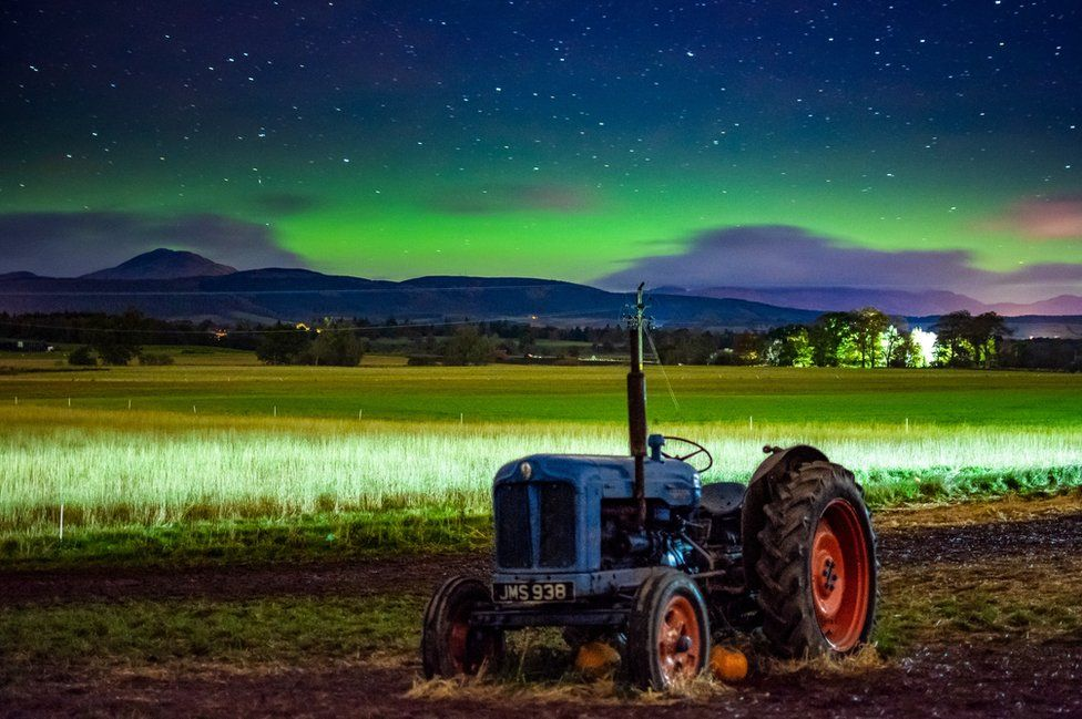 Ross Campbell captured the northern lights glowing on the horizon from Arnprior in Stirlingshire
