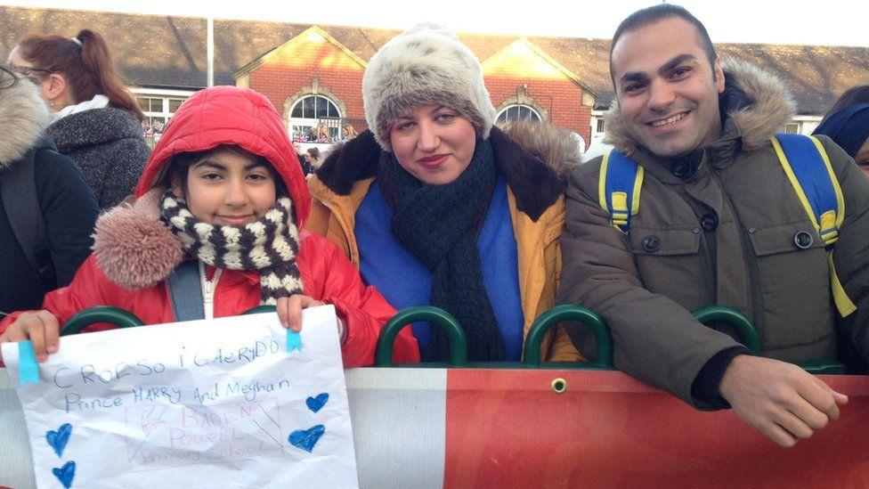 Niusha Tabrizi with her parents