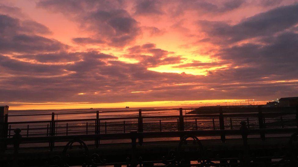 Sunrise over harbour