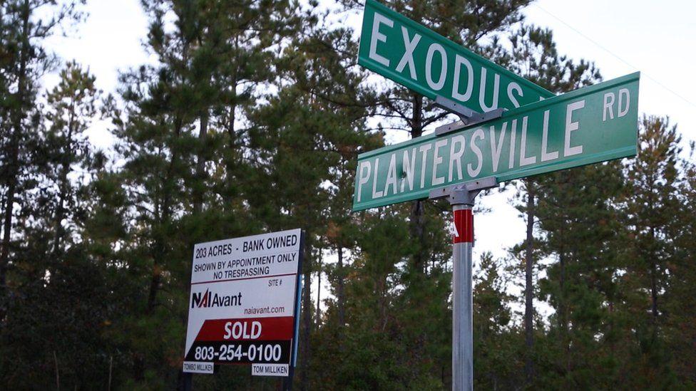 Plantersville sign