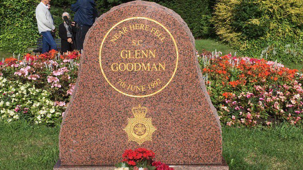 Glenn Goodman memorial at Tadcaster, North Yorkshire
