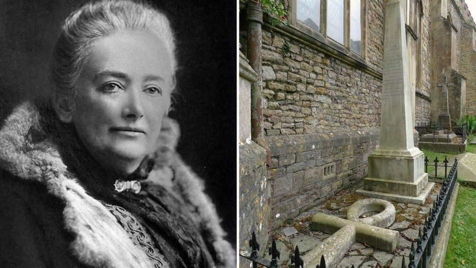 Amelia Edwards and Amelia Edwards tombstone