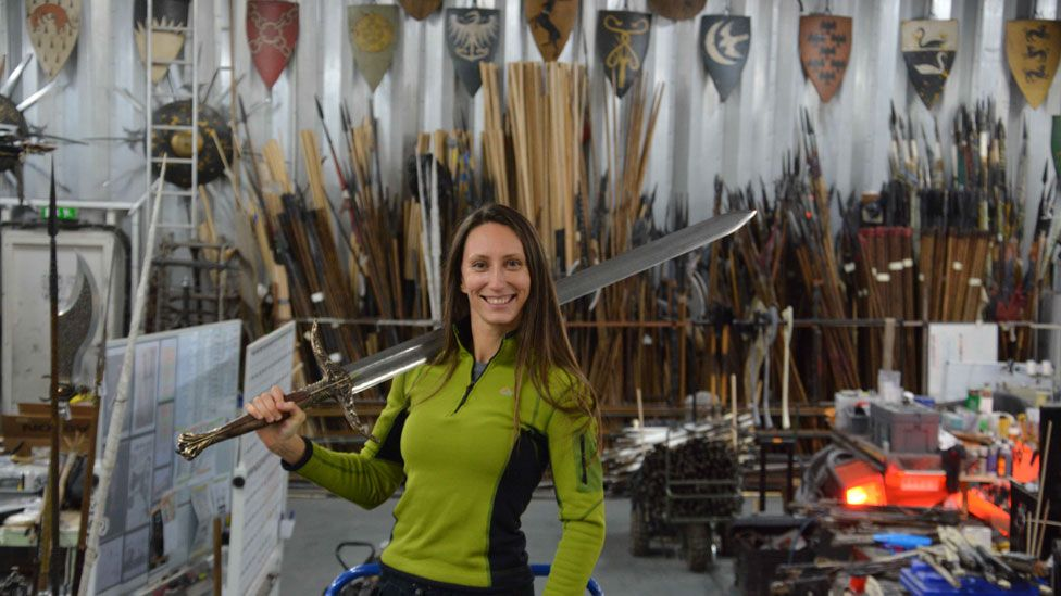Natalia in the workshop