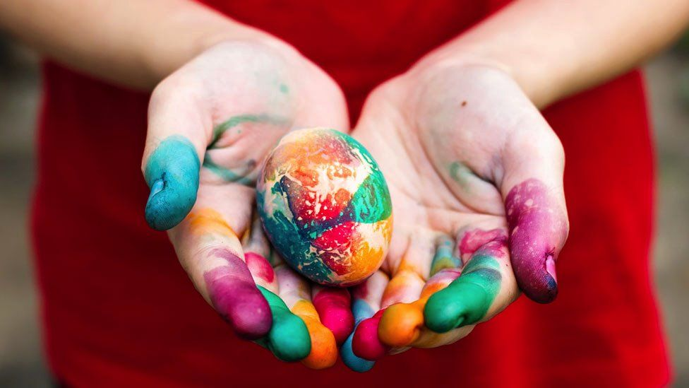 A file picture of a painted Easter egg