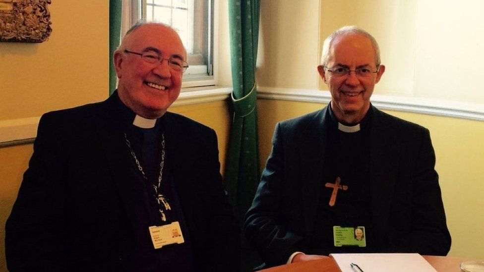 The Right Rev Dr Angus Morrison (left) with the Most Reverend Justin Welby