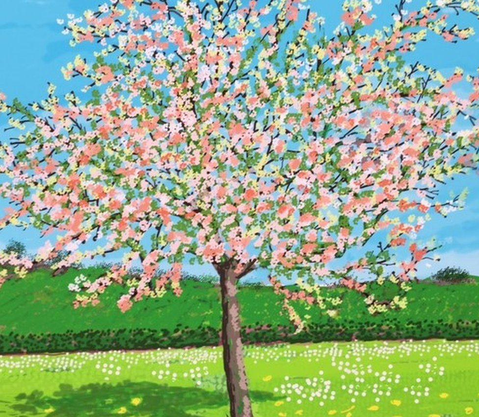 David Hockney's Tree Blossoms