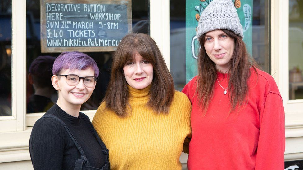 Nikkita Palmer, Rachel Atkinson and Talia Giles