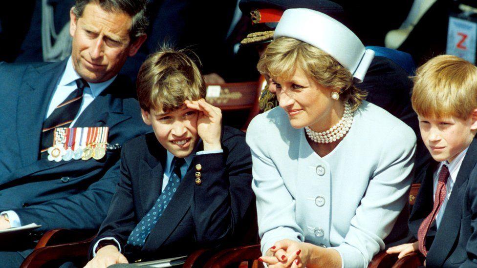Prince Charles, Prince William, Princess Diana and Prince Harry