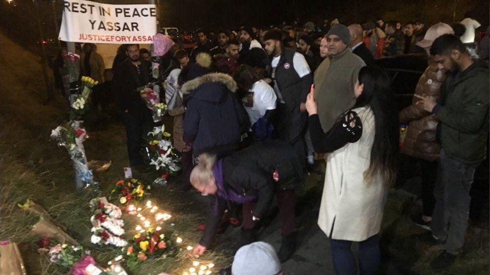 Scene at the vigil