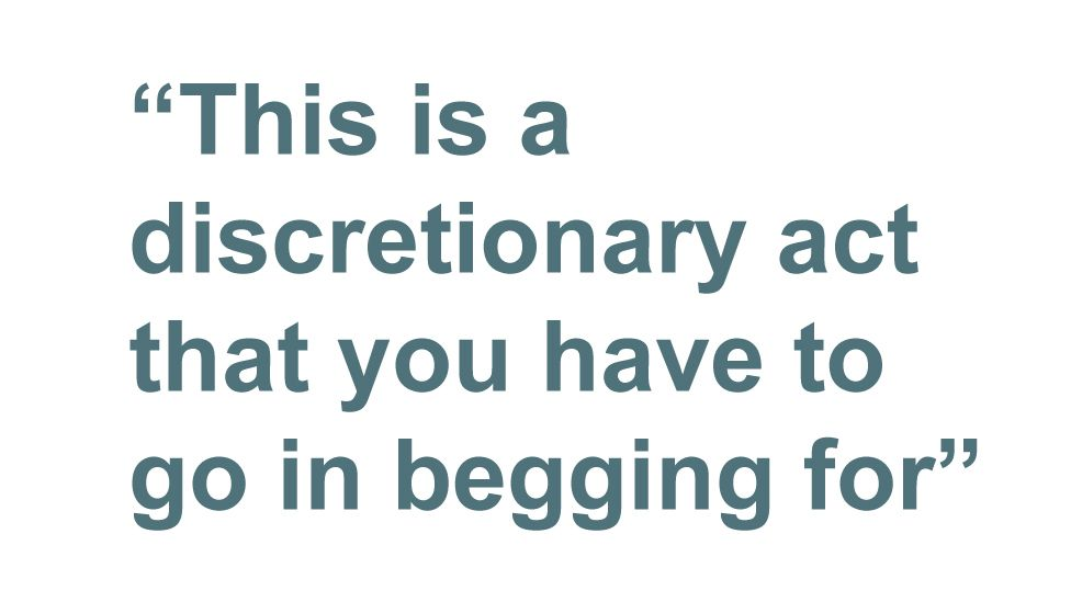 Quotebox: This is a discretionary act that you have to go in begging for