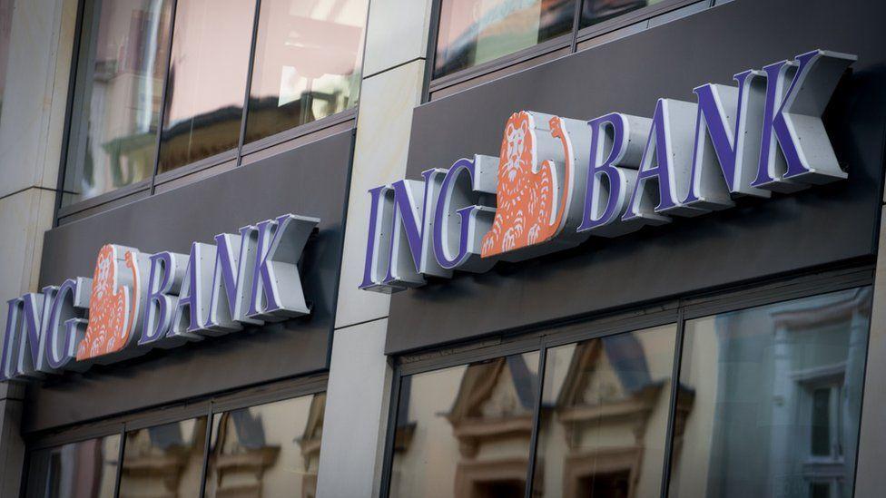 ING Bank logos outside a branch