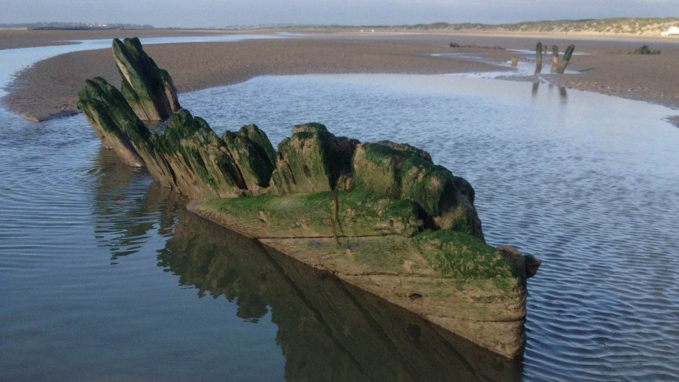 The wreck at Camber Sands