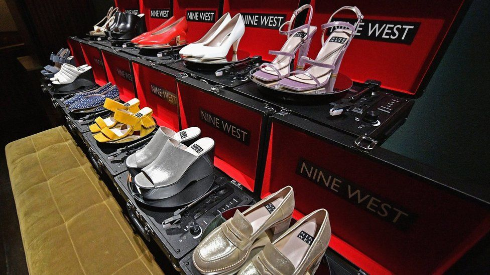 Nine West shoes on display on record players during the Nine West Throwback 40th Anniversary Celebration hosted by Olivia Culpo at The VNYL on February 6, 2018 in New York City.