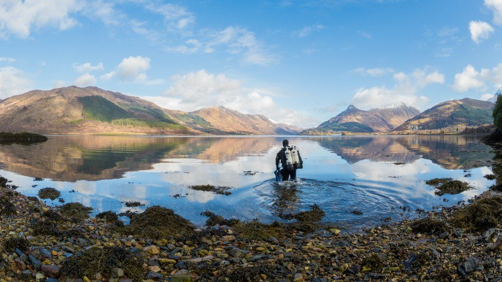 Diver at Loch Leven